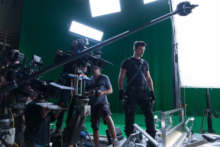 Captain America Set Photo Frank Grillo