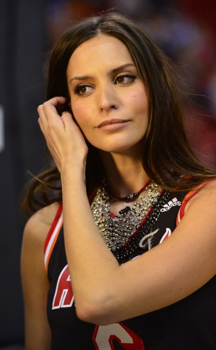 Genesis Rodriguez At Thunder Vs Heat Game In Miami