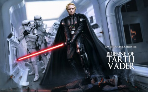 Brienne Of Tarth Vader Star Wars Episode Vii Gwendoline Christie As Brienne Of Tarth Vader