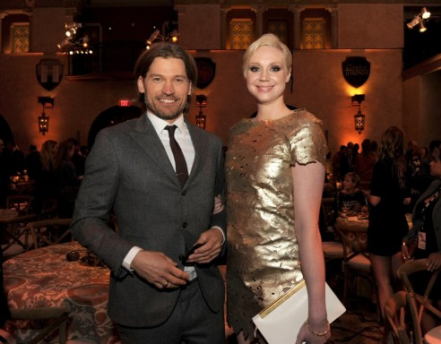Nikolaj Coster Waldau And Gwendoline Christie In Urzeala Tronurilor Large Picture
