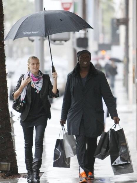 Heidi Klum And Seal Shopping And Seal