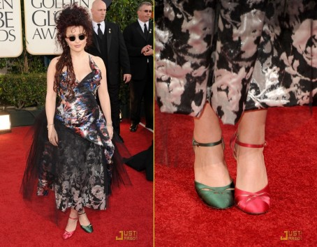 Helena Bonham Carter In Vivienne Westwood Golden Globes Fashion