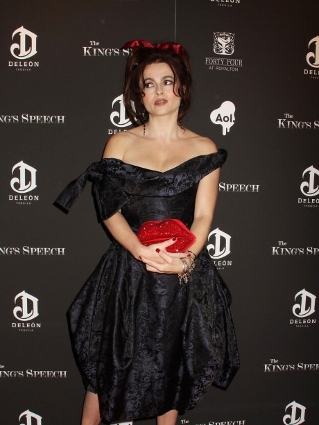 Helena Bonham Carter Red Bow