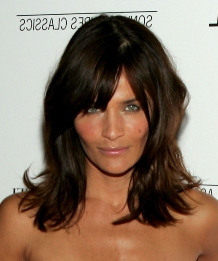 Trendy Helena Christensen Bangs Hairstyles