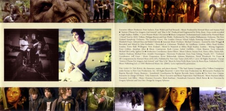 Howard Shore The Lord Of The Rings The Fellowship Of The Ring Soundtrack Booklet