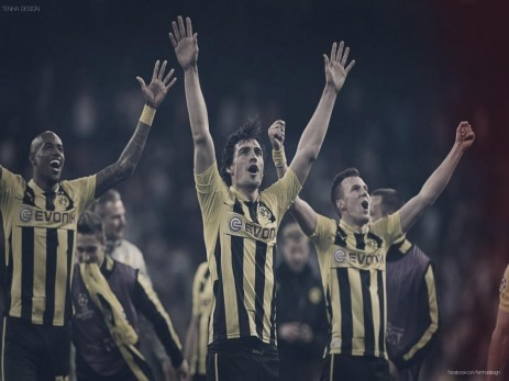 Ilkay Gundogan Borussia Dortmund Celebration Team Wallpaper Free Wallpaper
