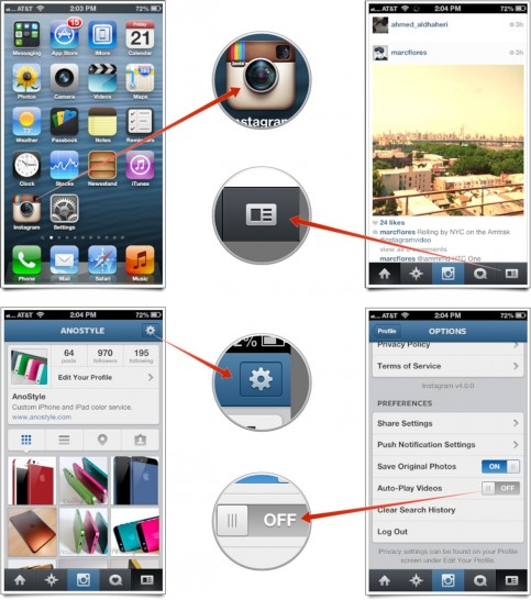 Instagram Autoplay Off Howto