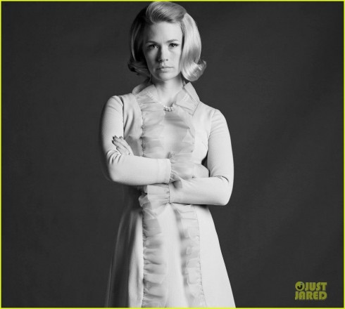 January Jones Jon Hamm Mad Men Season Cast Portraits Mad Men