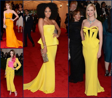 Yellow Overload Solange Knowles In Rachel Roy And January Jones Versace Fashion