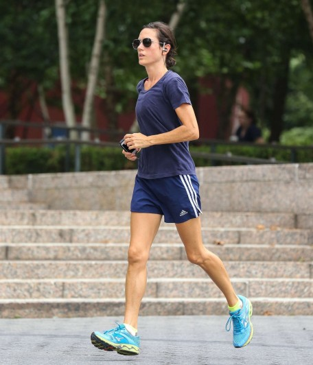 Jennifer Connelly Jogging In New York Bikini