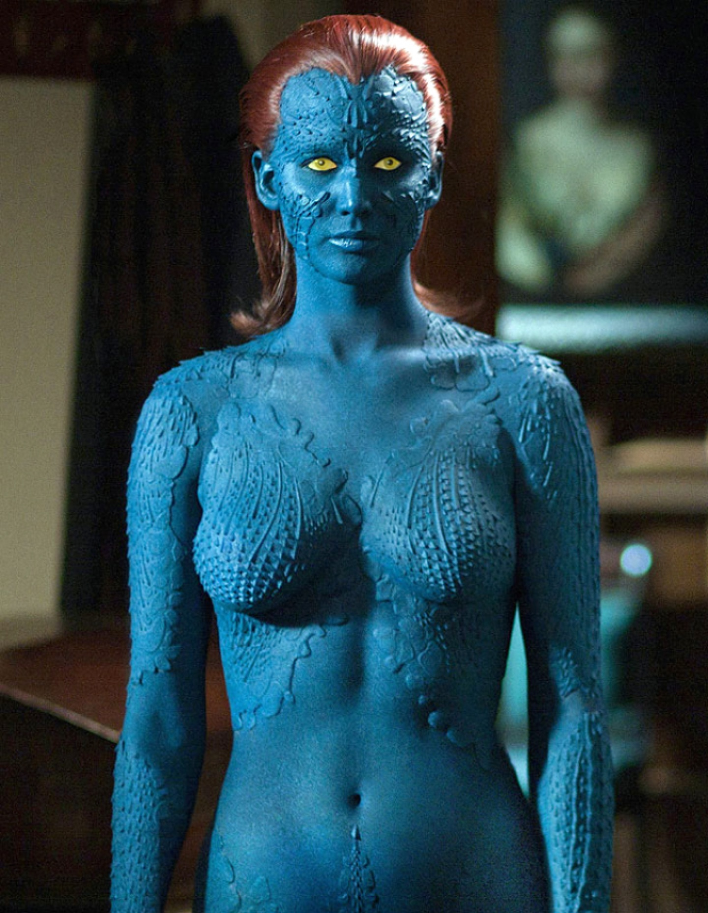 Jennifer Lawrence Men Mystique Costume Bikini