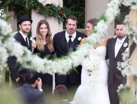 Jessica Biel At Chris Kirkpatrick Wedding In Orlando Wedding