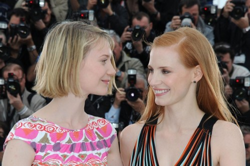 Jessica Chastain And Mia Wasikowska At Event Of Lawless Lawless