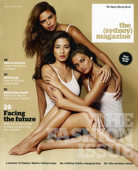 Samantha Harris Jessica Gomes Shanina Shaik On The Cover Of The Sydney Magazine April Issue Body