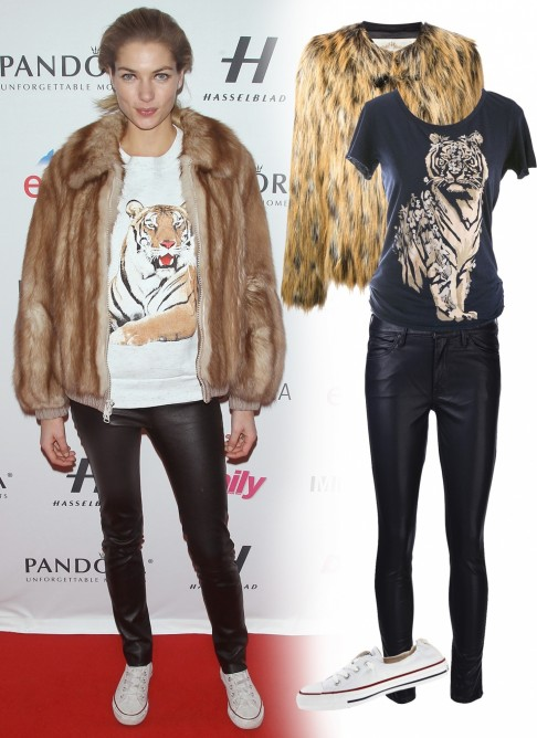 Dfe Ed Fc Jessica Hart Fur Coat Outfit Style