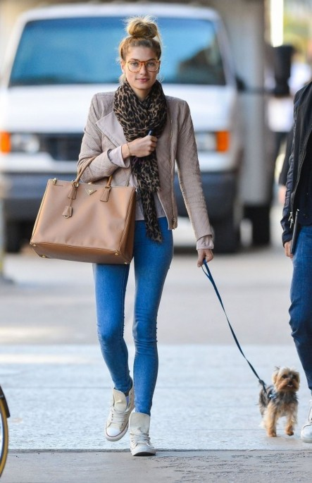Jessica Hart Seen Walking Her Dog In New York City The City