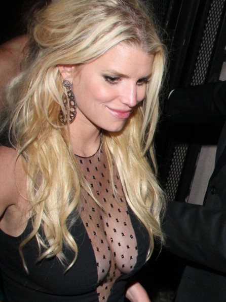 Jessica Simpson Leaves Warwick Nightclub In Hollywood
