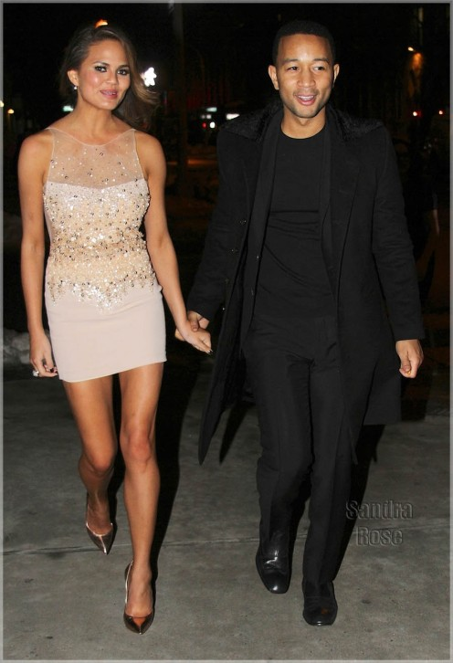 John Legend Chrissy Teigen In Ny Spl