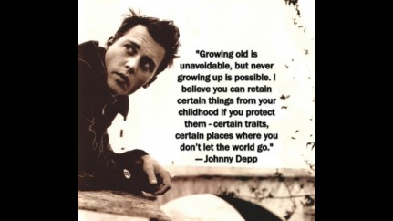 Johnny Depp Quotes Growing Old Is Unavoidable Wallpaper Quotes