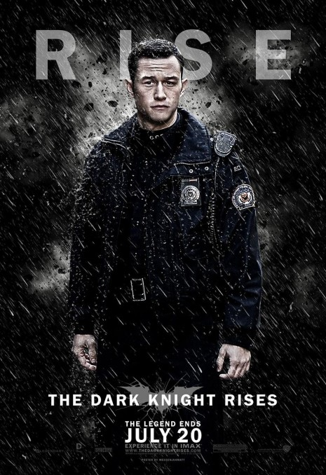 The Dark Knight Rises Poster Joseph Gordon Levitt