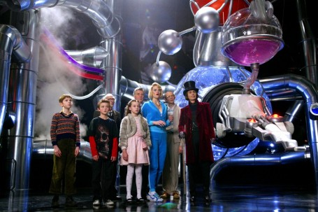 Freddie Highmore Jordan Fry David Kelly Julia Winter James Fox Missi Pyle Adam Godley And Johnny Depp In Warner Bros Pictures Fantasy Adventure Charlie And The Chocolate Factory Photo By Peter Mountai