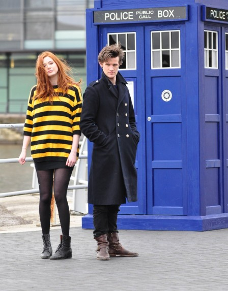 Matt Smith And Karen Gillan Photocall At Lowery Theatre And Matt Smith
