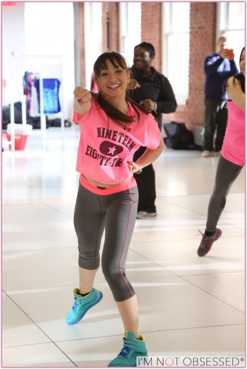 Karina Smirnoff Wearing Citystreet And Xersion Activewear While Teaching Danceclass At Jcpenneys New Year New You Fitness Event Family Guy