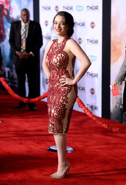 Kat Dennings At Marvel Thor The Dark World Premiere In Hollywood Beach