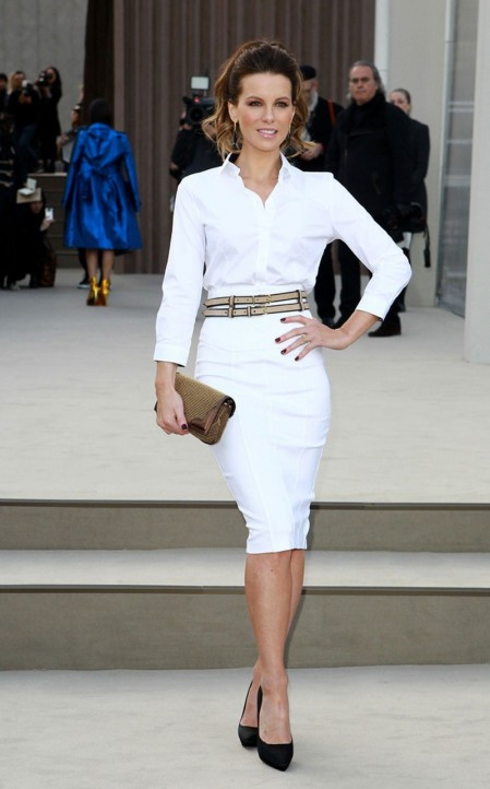 Kate Beckinsale At Burberry Prorsum Show At London Fashion Week Fashion