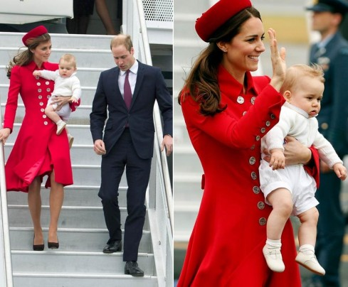 Kate Middleton Prince William Prince George New Zealand