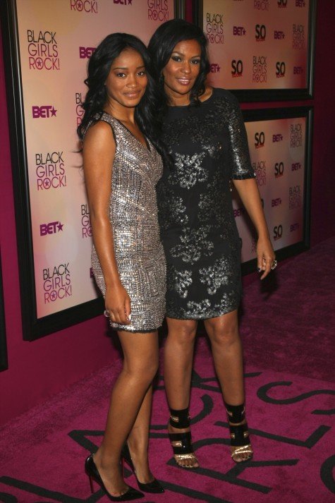J Beverly Bond With Actress Keke Palmer At The Bets Black Girls Rock Awards Show Movies