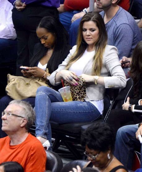 Khloe Kardashian At The La Clippers Game And The Game