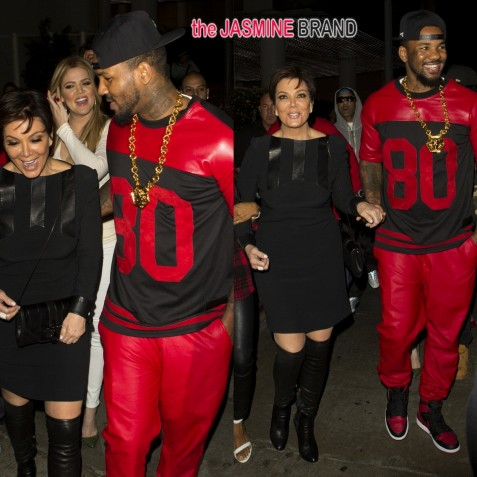 Kris Jenner Parties With Khloe Kardashian And The Game Tru Hollywood The Jasmine Brand And The Game