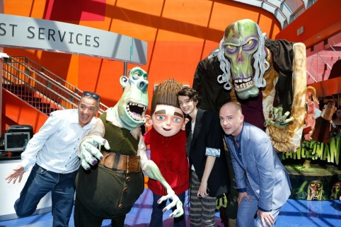 Sam Fell Kodi Smit Mcphee And Chris Butler At Event Of Paranorman Large Picture Kodi Smit Mcphee