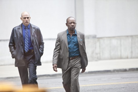 Picture Of Lennie James And Mark Strong In Low Winter Sun Large Picture Robbie Gee