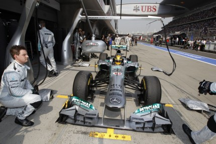 Lewis Hamilton In The Mercedes Amg Pits At The Chinese Formula One Grand Prix Mercedes