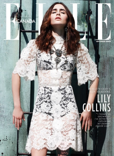 Lily Collins By Max Abadian For Elle Magazine Canada Body