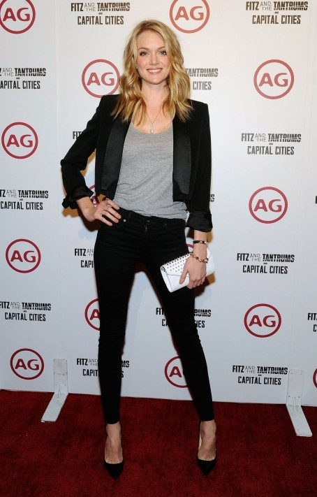 Lindsay Ellingson At Fitz And The Tantrum And Capital Cities Concert In Las Vegas