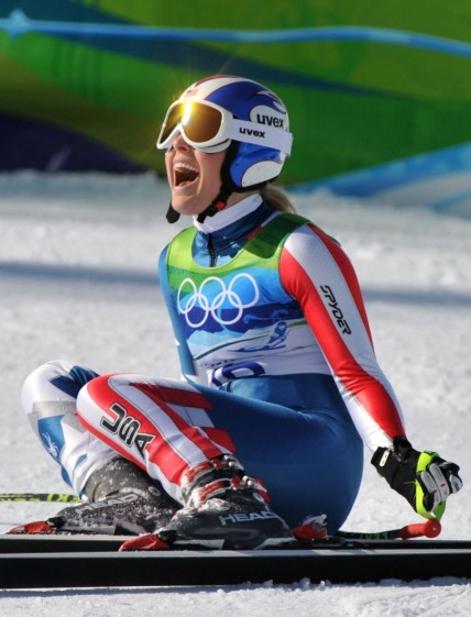 Lindsey Vonn Wins Gold In Downhill Skiing