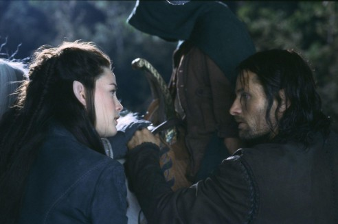 Still Of Liv Tyler And Viggo Mortensen In The Lord Of The Rings The Fellowship Of The Ring Large Picture Lord Of The Rings