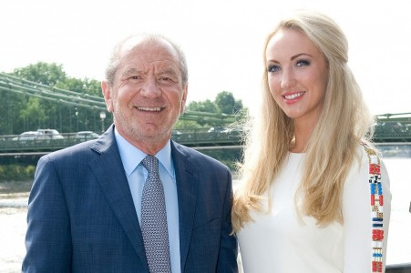 Lord Sugar With The Winner Of The Apprentice Leah Totton