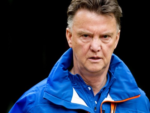 Excellent Louis Van Gaal The Holland Match In Training Fifa World Cup In Maracana With Blue Jacket