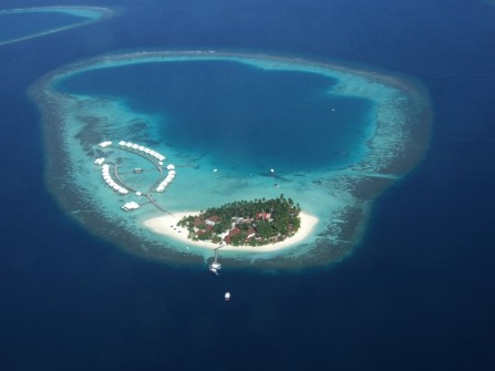 Diamonds Athuruga Beach And Water Villas Maldives Aerial Location