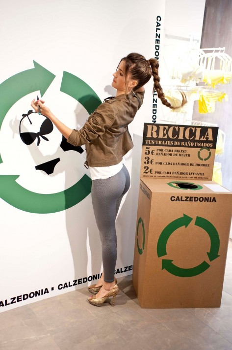 Malena Costa At Calzedonia Recycled Campaign Photocall In Madrid Beach