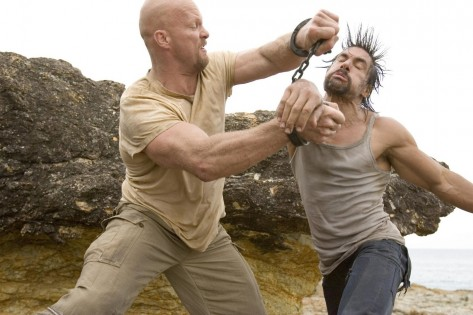 Still Of Steve Austin And Manu Bennett In The Condemned Large Picture Films
