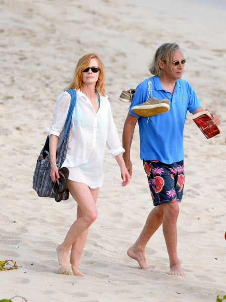Marg Helgenberger In St Barts Beach