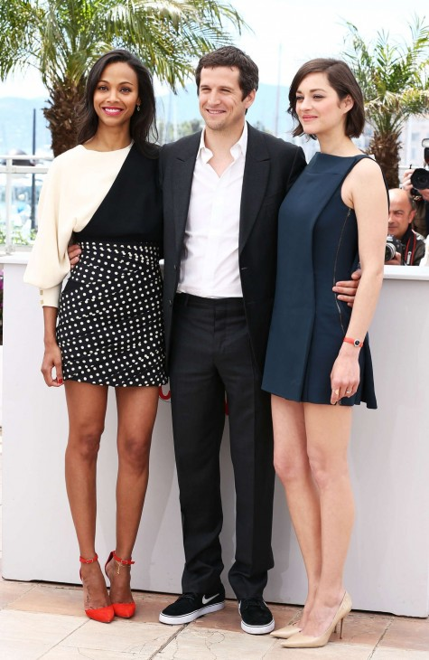 Zoe Saldana And Marion Cotillard At Blood Ties Photocall At The Th Cannes Film Festival Films