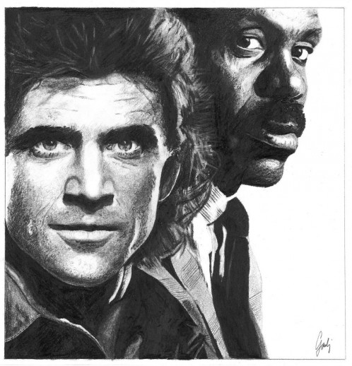 Mel Gibson And Danny Glover Lethal Weapon By Igoubej Xxs Lethal Weapon