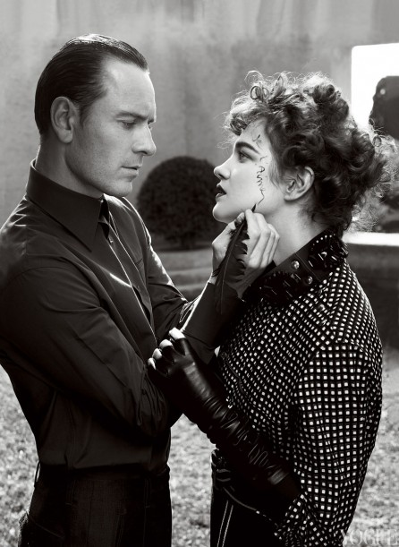 Natalia Vodianova Michael Fassbender By Craig Mcdean Modern Times Vogue Us May Fashion