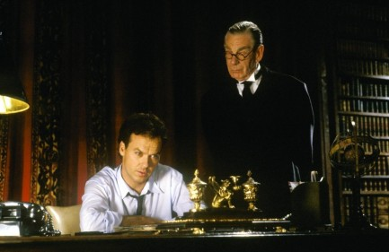 Still Of Michael Keaton And Michael Gough In Batman Large Picture